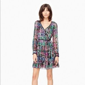 NWOT Kate Spade Multi Dot Metallic Dress sz 0